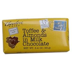 Chocolove Toffee  Almonds in Pure Milk 33 Cocoa >>> Find out more about the great product at the image link-affiliate link #GourmetChocolates