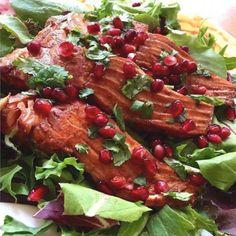 Pomegranate Glazed Pan-Seared Salmon