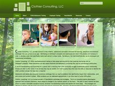 B2 Web Studios' WordPress website design for Clothier Consulting in Menasha, Wisconsin - http://clothierconsulting.com