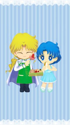 Zoisite & Ami (Sailor Moon Drops) Zoisite will is probably the best cook in the shitennou. He would be the best husband butler for Ami. Sailor Jupiter, Sailor Mars, Arte Sailor Moon, Sailor Moon Fan Art, Sailor Moon Character, Sailor Moon Usagi, Sailor Mercury, Sailor Moon Crystal, Sailor Scouts