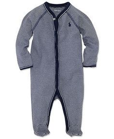 Ralph Lauren Baby Coverall, Baby Boys Striped Coverall - Kids - Macy's