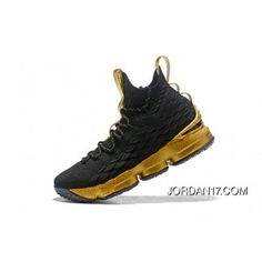e02187f79cb LeBron James Nike LeBron 15 Mens Basketball Shoes Black Gold NBA Finals  Game 4 Copuon. Zapatillas De Baloncesto ...