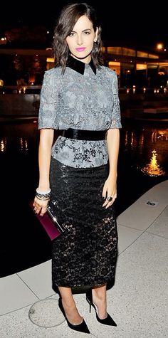 Camilla Belle in Monique Lhuiller. #Instyle.