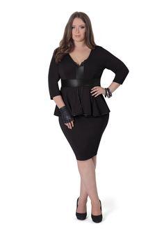 PEPLUM DRESS - Shop - Plus Size Fashion