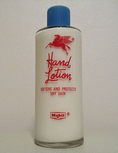 Mobil Pegasus Hand Lotion Bottle  PPT by AtomicPhenomic on Etsy