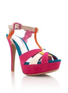 colorblock heels $27.20