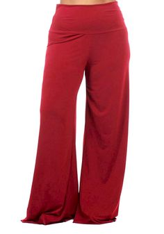 91ee2b8d773af Women's Plus Size Palazzo Fold Over Waist Wide Leg Stretch Lounging Pants *  You can get