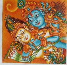 radhe krishna, Creative Painting for sale by Nirupama Mishra
