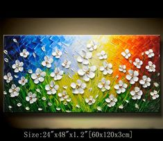 Original Abstract Painting, Modern Textured Painting,Impasto Landscape Textured Modern Palette Knife Painting,Painting on Canvas by Chen Stretched thickness: ) Framed / Stretched ( Ready to hang! ) The sides are staple-free and are painted black. Texture Painting On Canvas, Palette Knife Painting, Acrylic Painting Canvas, Canvas Art, Textured Painting, Painting Art, Contemporary Wall Art, Colorful Paintings, Abstract Art