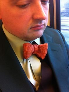hand-knit bow-tie