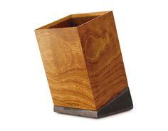 MOKU-TETSU (Wood-Iron) Penholder – Tilted for easy access!