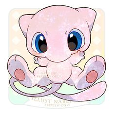 The most adorable Mew on the planet Rayquaza Pokemon, Cat Pokemon, Pokemon Sketch, Pokemon Fan Art, Cute Pokemon Pictures, Cute Pictures, Fotos Do Pokemon, Mew And Mewtwo, Harry Potter Disney