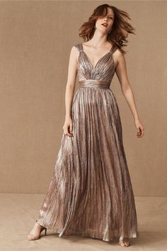 Catherine Deane Nya Dress In Metallic Silver/pink by Catherine Deane - Metallic Silver/pink - Size: 16 Long Occasion Dresses, Evening Dresses, Formal Dresses, Women's Dresses, Party Dresses, Gold Bridesmaid Dresses, Homecoming Dresses, Catherine Deane Dress, Flowy Gown