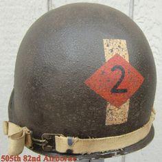 WWII M1 Helmet 2nd Ranger Bn. Westinghouse Liner. Front Seam Camo Net Captain