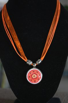 Sacral Chakra Resin Pendant by Crystal Moore