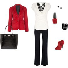 A fashion look from January 2012 featuring nebula shirt red cotton jacket and stretch jeans. Browse and shop related looks. Business Outfits, Business Attire, Business Fashion, Business Clothes, Court Outfit, Pretty Outfits, Cute Outfits, Love Clothing, Professional Outfits