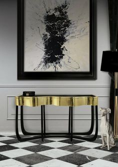 Each piece reflects their dedication to design, with a unique personality and sophisticated character | Sinuous Console Table by @Boca do Lobo | Discover more http://modernconsoletables.net