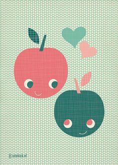 Applely in love - valentine. By Miss Honeybird