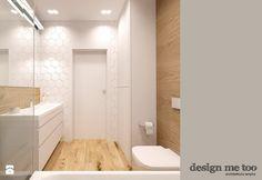 APARTAMENT W RUMI - Mała łazienka w bloku bez okna, styl nowoczesny - zdjęcie od design me too