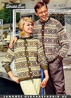 Glåmos 623 pattern by Sandnes Design Norwegian Knitting, Cardigan Design, Fair Isle Knitting, Color Combinations, Ravelry, Knitting Patterns, Nostalgia, Retro, Clothes