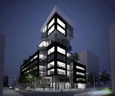 Proyecto: Edificio de Oficinas Polifuncional - ACCESO - Arquitecto: Diego Rojas…