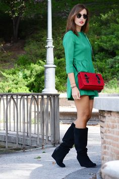 el blog de silvia rodriguez | Blog de moda | street style: Little green dress #kissmylook