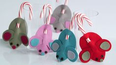 Watch Martha Stewart's DIY Candy Cane Mice Video. Get more step-by-step instructions and how to's from Martha Stewart.