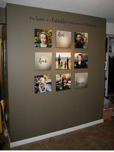 Gallery wall with canvas