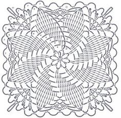 How to Crochet a Solid Granny Square Crochet Tablecloth Pattern, Crochet Bedspread, Crochet Square Patterns, Crochet Squares, Crochet Designs, Knitting Patterns, Crochet Art, Thread Crochet, Crochet Motif