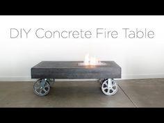 HomeMade Modern EP84 Concrete Fire Table