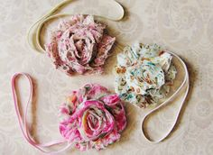 3 Vintage Style Baby Headband Set - Baby Girl Headband - Newborn Headband - Vintage Newborn Photo Props by BellaLoved on Etsy https://www.etsy.com/listing/106400294/3-vintage-style-baby-headband-set-baby
