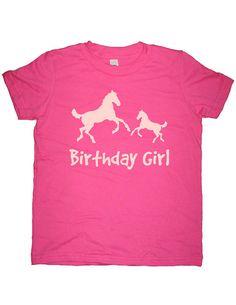 Birthday Shirt Horse Pair Birthday Girl T by SunshineMountainTees