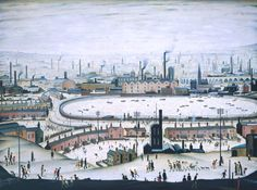 The Style Examiner: The silent lives of the industrial city: 'Lowry and the Painting of Modern Life' at Tate Britain Salford, Tate Britain, Folk, English Artists, Industrial, Naive Art, Urban Landscape, Paris Skyline, Art Prints