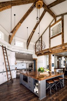 A gorgeous farmhouse style home on Big Cedar Lake This page has some very useful information about home design and decor. Deco Design, Küchen Design, Design Ideas, Modern Design, Layout Design, Contemporary Design, Design Homes, Light Design, Flat Design