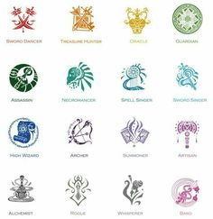 - Profession Symbols by oOoXylaoOo on DeviantArt Writing Inspiration, Character Inspiration, Character Art, Magic Symbols, Ancient Symbols, Glyphs Symbols, Drawing Tips, Drawing Reference, Dr Tattoo