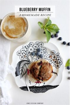 the best blueberry muffin recipe (and a free recipe art print!)