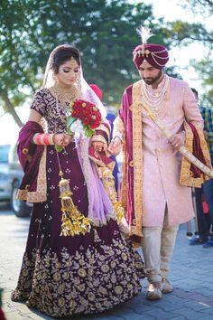 Sikh wedding dress, punjabi wedding couple, punjabi bride, indian wedding o Sikh Wedding Dress, Punjabi Wedding Couple, Wedding Lehnga, Punjabi Couple, Punjabi Bride, Bridal Dresses, Wedding Couples, Punjabi Wedding Suit, Indian Bridal Outfits