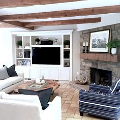Modern Farmhouse Family Room Before/After