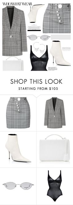 """""""OOTD"""" by gigi-lucid ❤ liked on Polyvore featuring Alexander Wang, Balenciaga, Mark Cross, Who What Wear, Chanel, Wolford, Kerr®, Annika Burman, Chloé and StreetStyle"""