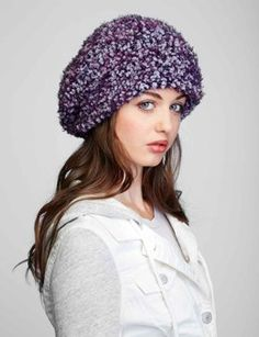 Slouchy Hat in Bernat Blissful