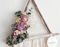 The Cheyenne Small Lace Dreamcatcher // Wall Hanging // Floral
