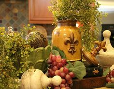 Tuscan decor-- incorporates the grapevine as well!