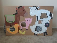 good party idea, easy to recreate with animals of the birthday kid& choice. Petting Zoo Birthday Party, Cowgirl Birthday, Cowgirl Party, Farm Birthday, Animal Birthday, 3rd Birthday Parties, Birthday Ideas, Farm Animal Party, Barnyard Party