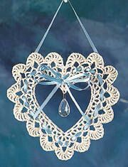 Items similar to Crochet heart dream catcher/lacework doily - heart suncatcher - japanese crochet eb Thread Crochet, Crochet Crafts, Crochet Doilies, Crochet Flowers, Crochet Owls, Crochet Animals, Diy Crafts, Crochet Christmas Ornaments, Crochet Snowflakes