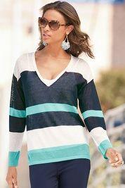 Multi-stripe pullover