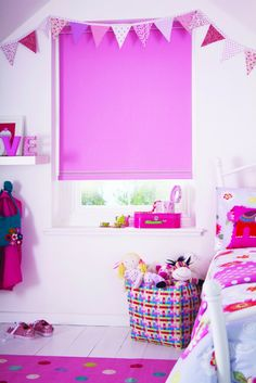 Contemporary prints, bold colours & their favourite things adding a wow factor to your children's bedroom windows. Tilt And Turn Windows, Bold Colors, Colours, Blinds For You, Bedroom Windows, Wow Factor, Roller Blinds, Your Child, Contemporary