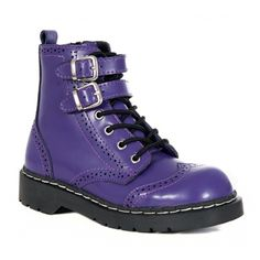 boots | home womens shoes and boots womens purple wingtip combat boots