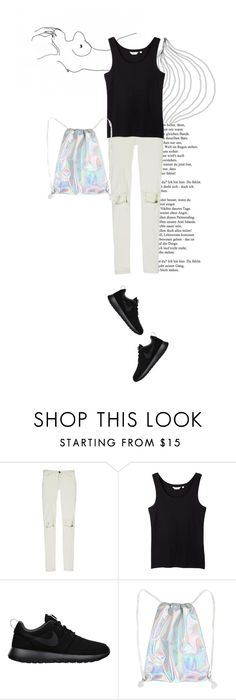 """""""naked."""" by rosa-loves-skittles ❤ liked on Polyvore featuring Current/Elliott and NIKE"""