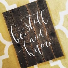 Be Still And Know Reclaimed Wood Pallet Sign Art by ToEachHisOwnDesigns