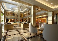 luxurious modern hotel lobby design ideas with really cool ...